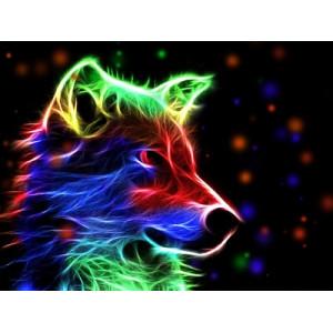 "GХ5328 ""Неоновая собака"", 40х50 см"