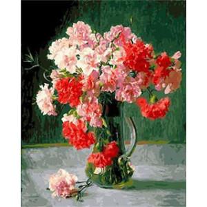 """GX5469 """"Розовые и красные гвоздики"""", 40х50 см"""