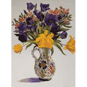"""GX5598 """"Цветы в разрисованном кувшине"""", 40х50 см"""
