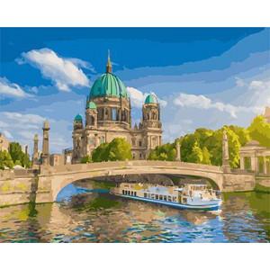 """GX21809 """"Баржа под берлинским мостом"""", 40х50 см"""