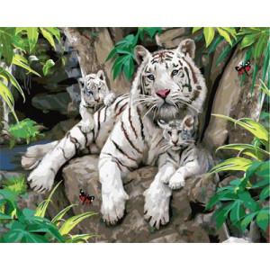 "GX21877 ""Бенгальские тигры"", 40х50 см"