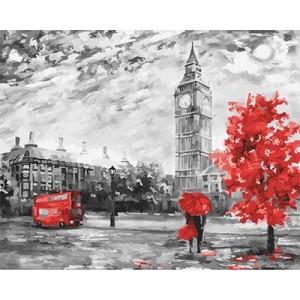 "GX22029 ""Серо-красный Лондон"", 40х50 см"