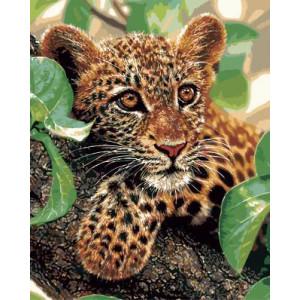 """GX5349 """"Детеныш леопарда"""", 40х50 см"""