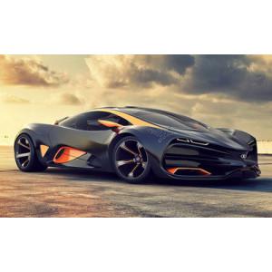 "GX22428 ""Черный суперкар"", 40х50 см"