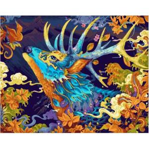 """GX22003 Картина по номерам """"Сказочный олень"""", 40х50 см"""