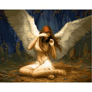 "GX22004 Картина по номерам ""Свет Ангела"", 40х50 см"