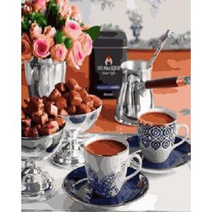 """GX22097 Картина по номерам """"Утренний кофе"""", 40х50 см"""