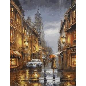 "GX4707 Картина по номерам ""Дождливый вечер в Англии"", 40х50 см"