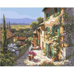 "GX4833 Картина по номерам ""Южный городок"", 40х50 см"