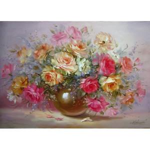 """GX5832 Картины по номерам """"Букет роз"""", 40х50 см"""