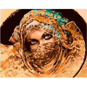 "GX22051 Картина по номерам ""Взгляд восточной красавицы"", 40х50 см"