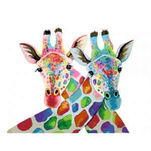 """GX22362 Картина по номерам """"Разноцветные жирафы"""", 40х50 см"""