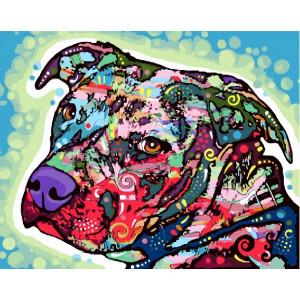 """GX22589 Картина по номерам """"Цветной пес"""", 40х50 см"""