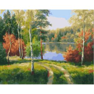 """GX22973 Картина по номерам """"Краски осени"""", 40х50 см"""