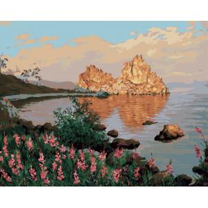 "GX5704 Картина по номерам ""Скала Шаманка на Ольхоне.Байкал"", 40х50 см"