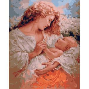 "GX5743 Картина по номерам ""Мама и малыш"", 40х50 см"