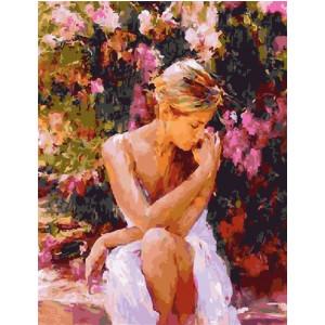 "GX5826 Картина по номерам ""Девушка в саду"", 40х50 см"