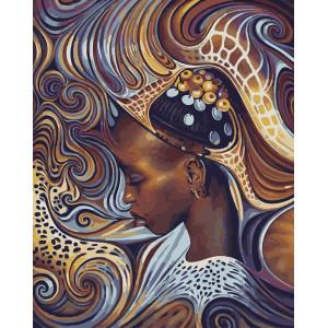 "GX5835 Картина по номерам ""Африканские мотивы"", 40х50 см"