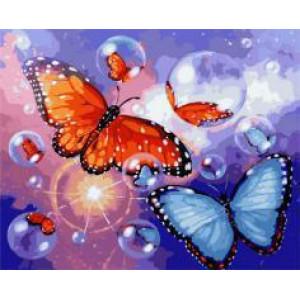 """GX22072 """"Бабочки и мыльные пузыри"""", 40х50 см"""