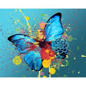 """GX22237 """"Синяя бабочка и кляксы"""", 40х50 см"""