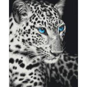 """GX22284 """"Белый леопард с голубыми глазами"""", 40х50 см"""