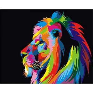 """GХ3973 """"Радужный лев в профиль"""" , 40х50 см"""