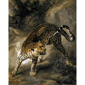 GX7631 Леопард в развороте 40-50см