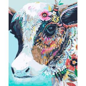 "GХ3781 ""Красавица-корова"" , 40х50 см"