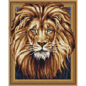 3D Алмазная мозаика 40х50 круглые стразы TSGJ 1014 Царь зверей