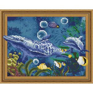 3D Алмазная мозаика 40х50 круглые стразы TSGJ 1094 Морские жители