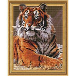 3D Алмазная мозаика, 40х50, круглые стразы TSGJ 1101 Тигр