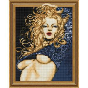 3D Алмазная мозаика 40х50 круглые стразы TSGJ 1110 Женская красота