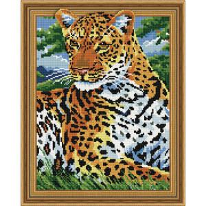 3D Алмазная мозаика, 40х50, круглые стразы TSGJ 1122 Леопард