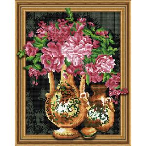 3D Алмазная мозаика 40х50 круглые стразы TSGJ 1138 Цветочный натюрморт