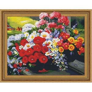 3D Алмазная мозаика 40х50 круглые стразы TSGJ 1166 Полевые цветы