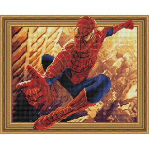 3D Алмазная мозаика 40х50 круглые стразы TSGJ 1248 Человек паук