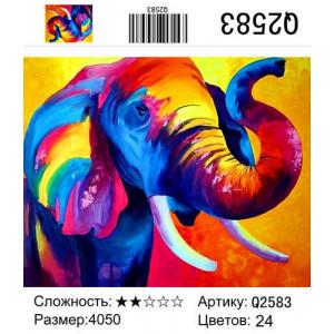 """Q2583 """"Радужный слон"""", 40х50 см"""