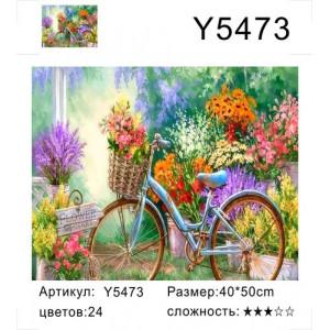 """Y5473 картины по номерам """"Велосипед с цветами"""", 40х50 см"""