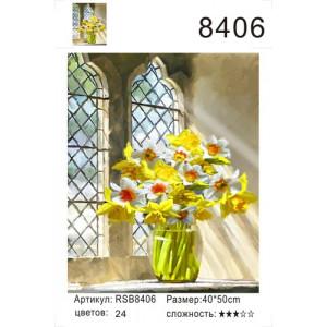 """РН 8406 картины по номерам """"Желтые цветы у окна"""", 40х50 см"""