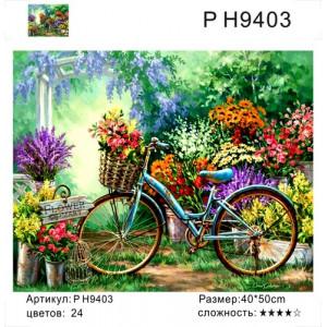 """PH9403 картины по номерам """"Велосипед с цветами"""", 40х50 см"""