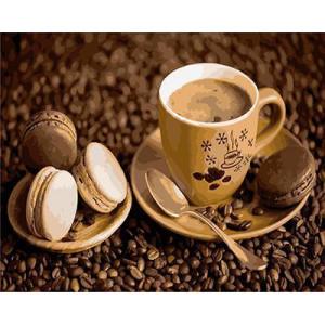 GХ4463 картины по номерам Кофе с чокопаем  40х50 см