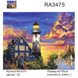 "RA3475 ""Маяк на закате"", 40х50 см"