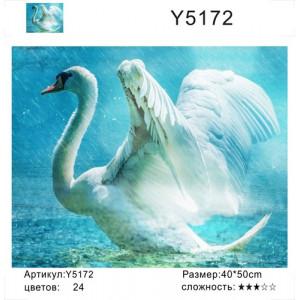 """Y5172 """"Лебедь под дождем"""", 40х50 см"""