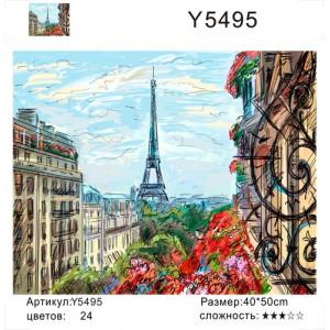 """Y5495 """"Вид с окна на эйфелеву башню"""", 40х50 см"""