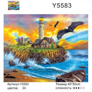 "Y5583 ""Маяк, лодка, два орла"", 40х50 см"