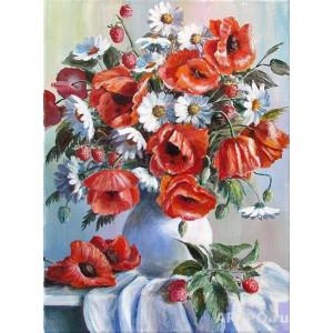 GХ3812 картина раскраска по номерам Букет 40х50 купить в Омске недорого