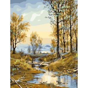 """GX8348 картина по номерам на холсте """"Наступает осень"""" 40х50 см купить в Омске недорого"""