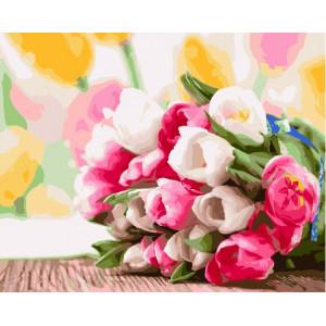 "GX9193 Картина по номерам ""Букет тюльпанов"" 40х50 см купить в Омске недорого"