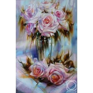 "GX9899 Картина раскраска по номерам на холсте ""Розы"" 40х50 см купить в Омске недорого"