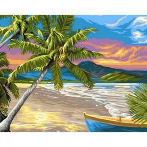 Q1665 Картина по номерам пляж 40x50 см купить в Омске недорого